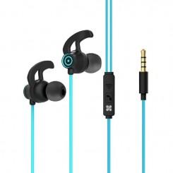 Écouteurs stéréo intra-auriculaires avec micro Promate Swift - Bleu