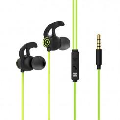 Écouteurs stéréo intra-auriculaires avec micro Promate Swift - Vert