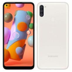 "Smartphone Samsung Galaxy A11 - 32Go - 6.4"" - Blanc + SIM Voix 5dt Ooredoo + film de protection offert"