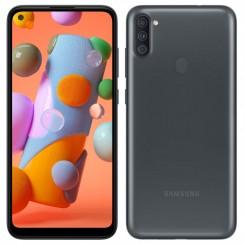 "Smartphone Samsung Galaxy A11 - 32Go - 6.4"" - Noir + SIM Voix 5dt Ooredoo + film de protection offert"