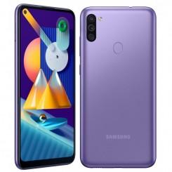 """Smartphone Samsung Galaxy M11 - 32Go - 6.4"""" - Violet + SIM Voix 5dt Ooredoo + film de protection offert"""