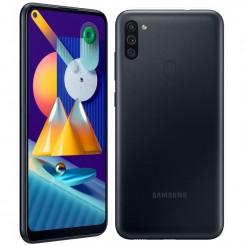 """Smartphone Samsung Galaxy M11 - 32Go - 6.4"""" - Noir + SIM Voix 5dt Ooredoo + film de protection offert"""