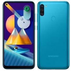 "Smartphone Samsung Galaxy M11 - 32Go - 6.4"" - Bleu + SIM Voix 5dt Ooredoo + film de protection offert"