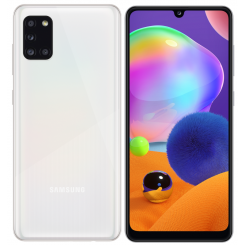"Smartphone Samsung Galaxy A31 - 128 Go - 6.4"" - Double SIM - Blanc + SIM Voix 5dt Ooredoo (SM-A315F/DS)"