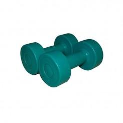 Haltères vinyle vert émeraude 2x 1 kg SVELTUS-9-2019 (1162)