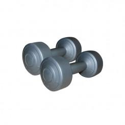 Haltères vinyle gris 2x 2 kg SVELTUS-9-2019 (1164)