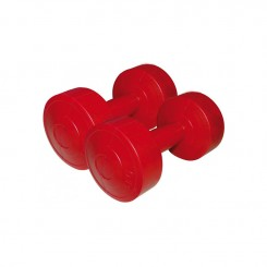 Haltères vinyle rouge 2x3 kg SVELTUS-9-2019 (1165)