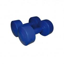Haltères vinyle bleu foncé 2x4 kg SVELTUS-9-2019 (1166)