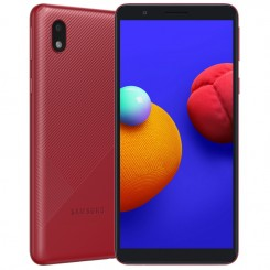 "Smartphone Samsung Galaxy A01 - 16 Go - 5.72"" - Double SIM - Rouge + SIM Voix 5dt Ooredoo"