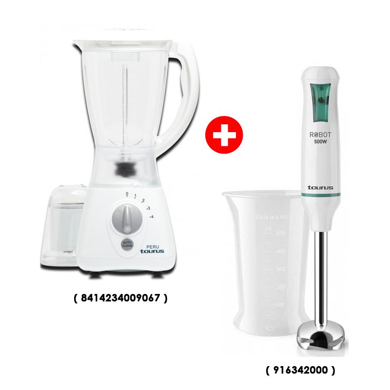 Mixeur Plongeant TAURUS 916342000 500W + Blender Taurus Peru 400W