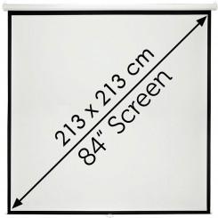 Ecran de projection mural 213x213cm Avec Commande