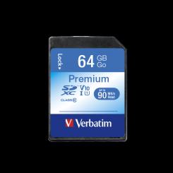CARTE MEMOIRE SDXC VERBATIM U1 Premium 64GB CLASS-10