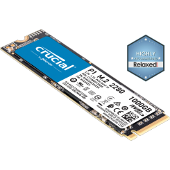 DISQUE DUR INTERNE CRUCIAL P1 M.2 NVME 1To 3D NAND PCIE