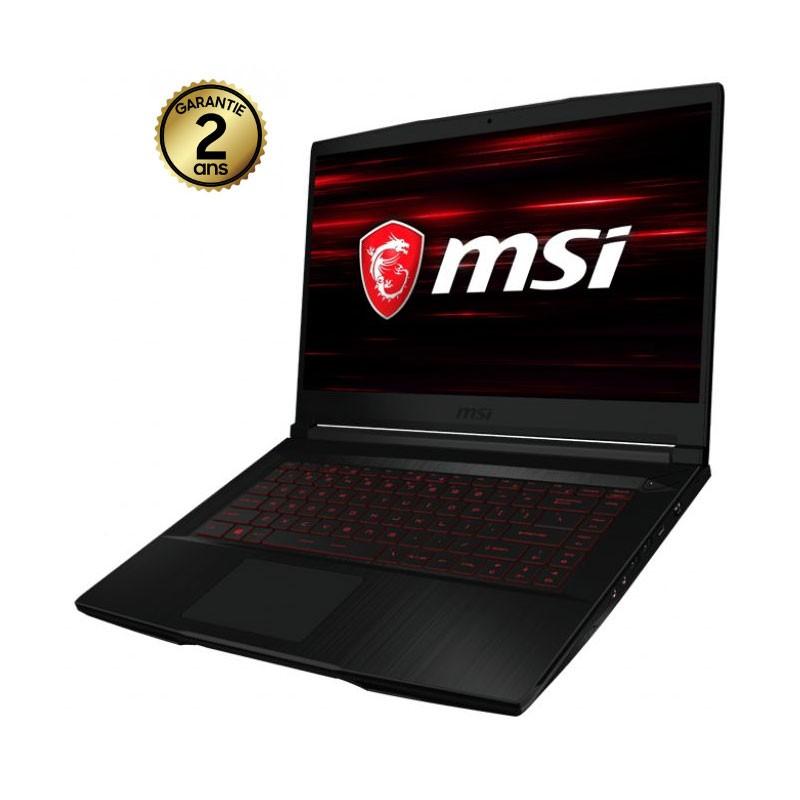 PC Portable MSI GF63-10SC-1202XFR - i5 10è Gén - 8 Go - 512Go SSD - Nvidia GTX 4Go - Noir
