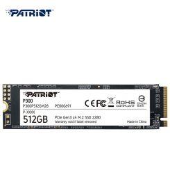 DISQUE DUR INTERNE SSD Patriot P300 M.2 PCIe Gen 3x4 512 Go