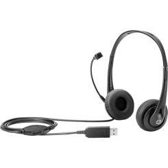 Micro Casque USB HP T1A67AA - Noir