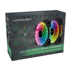 Ventilateur de boîtier LC-Power LC-CF-120 PRO RGB LED COMBO