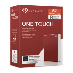 Disque dur externe HDD Seagate One Touch 5 To –STKC5000403- RED