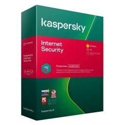 Antivirus KASPERSKY Internet Security 2021 1 poste 1 an