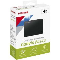"""Disque Dur Externe Toshiba Canvio 2,5"""" 4To Noir"""