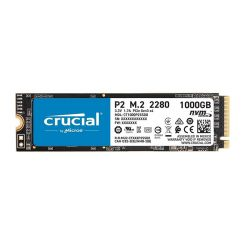 DISQUE DUR INTERNE CRUCIAL P2 M.2 NVME 1To 3D NAND PCIE CT1000P2SSD8