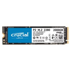 DISQUE DUR INTERNE CRUCIAL P2 M.2 NVME 2To 3D NAND PCIE CT2000P2SSD8
