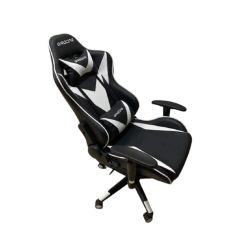 Chaise Pilote Gaming  Blanc/ NOIR