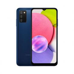 """Smartphone Samsung Galaxy A03S -4Go- 64 Go - 6.5"""" - Double SIM - Bleu (SM-A037F/DS)"""
